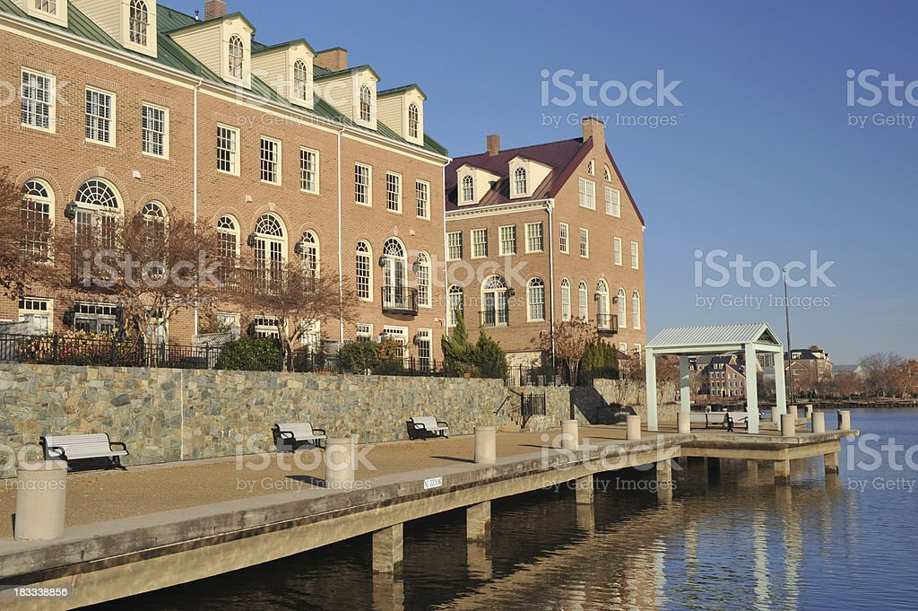Waterfront Property stock photo