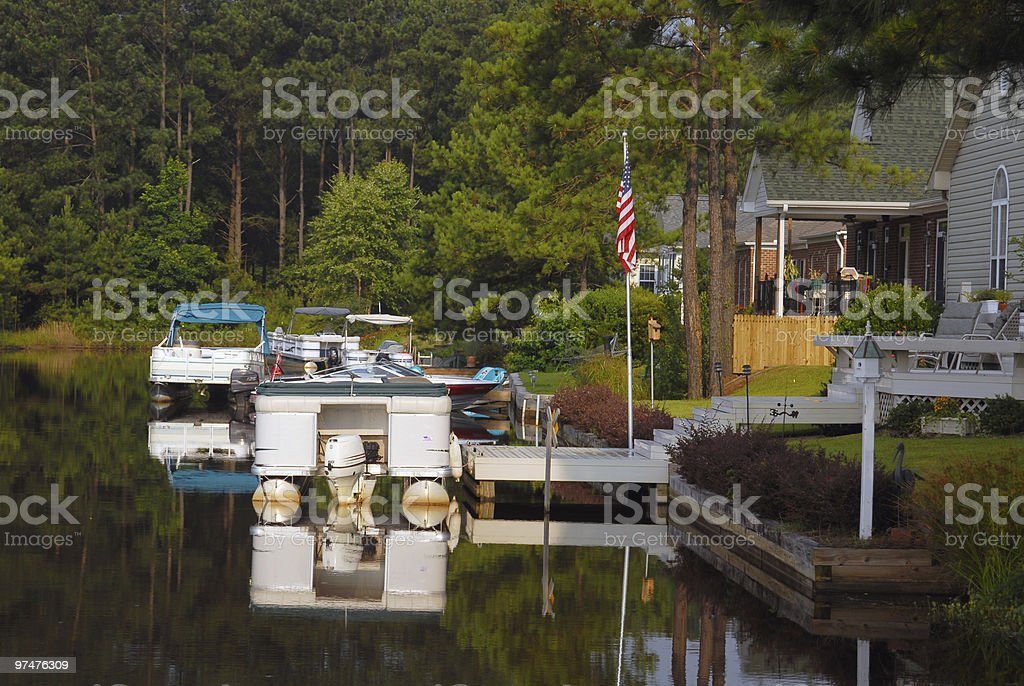 Waterfront Property royalty-free stock photo