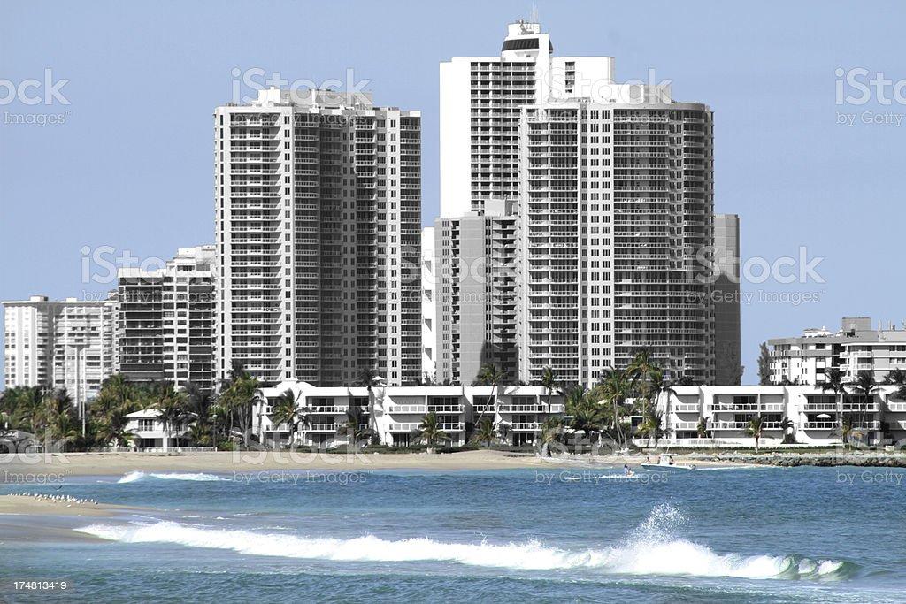 Waterfront resort stock photo