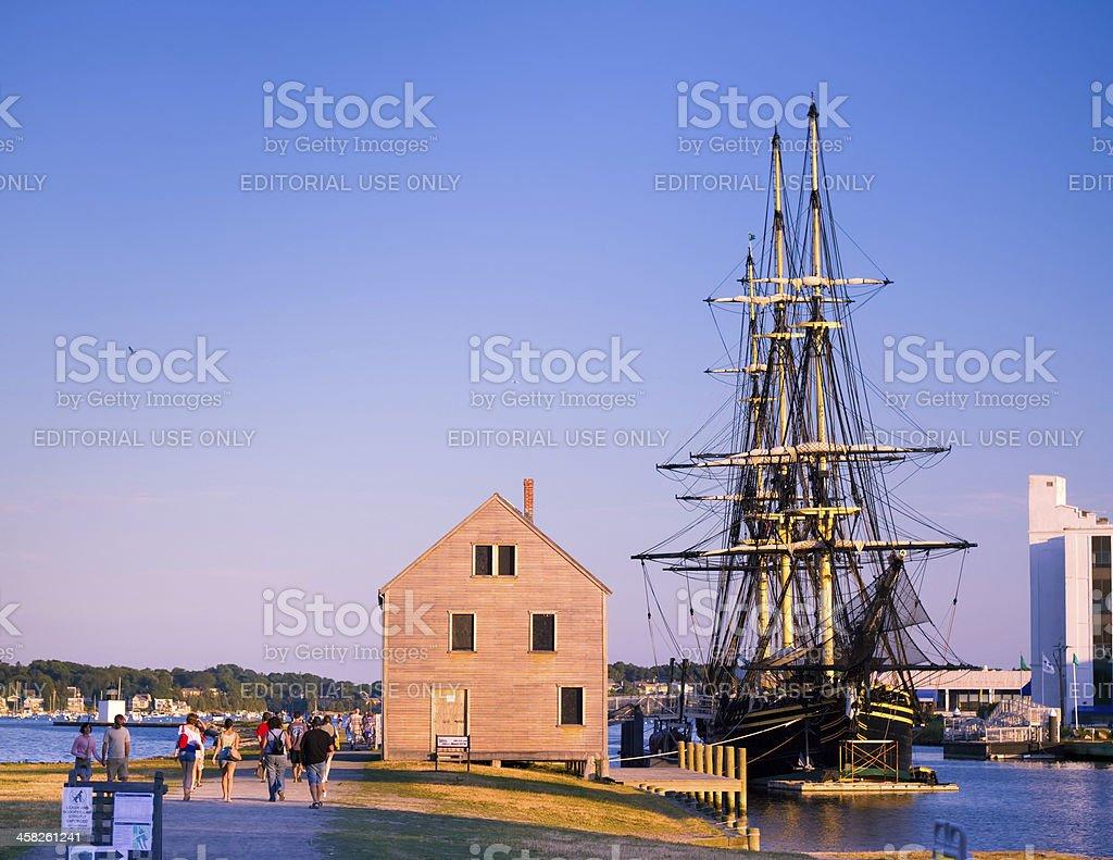 Waterfront, Salem Mass stock photo