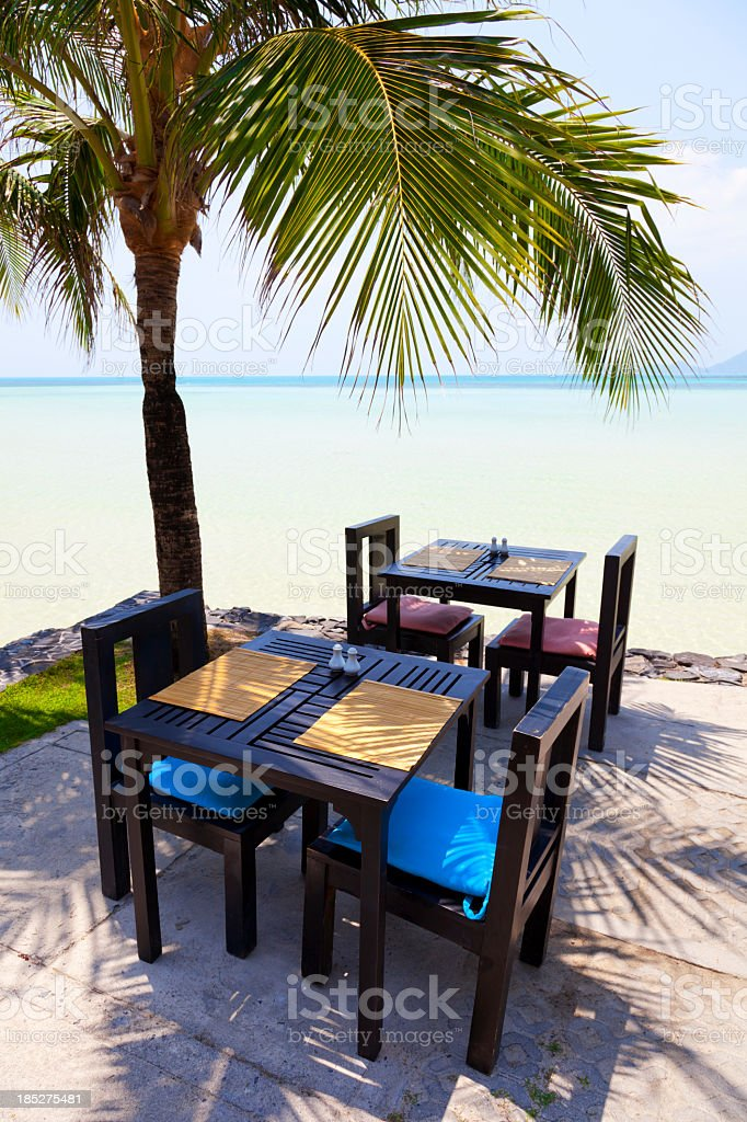 waterfront table royalty-free stock photo