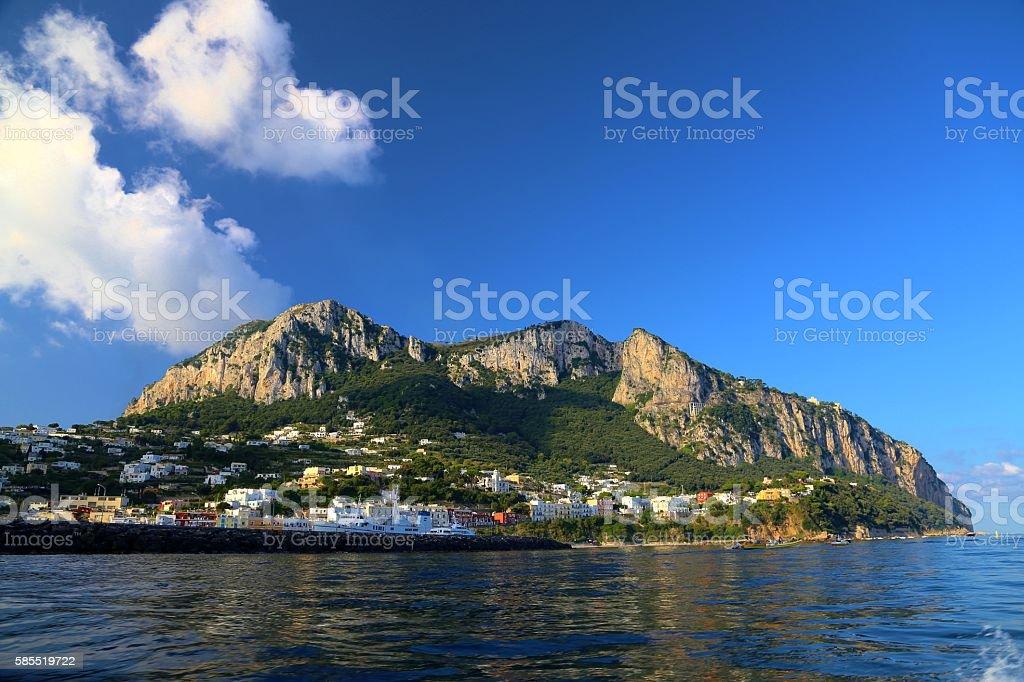 Waterfront View of Capri, Italy stock photo