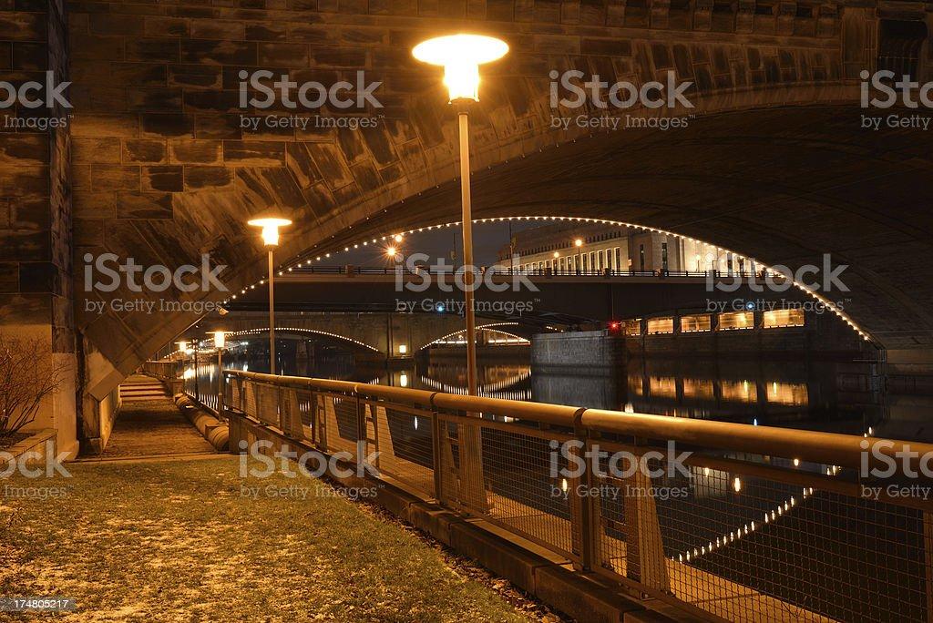 Waterfront Walk in Philadelphia stock photo
