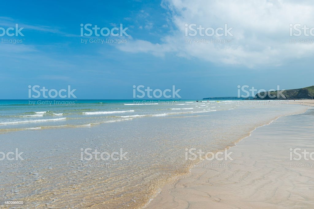 Watergate Bay Beach, Newquay, Cornwall stock photo
