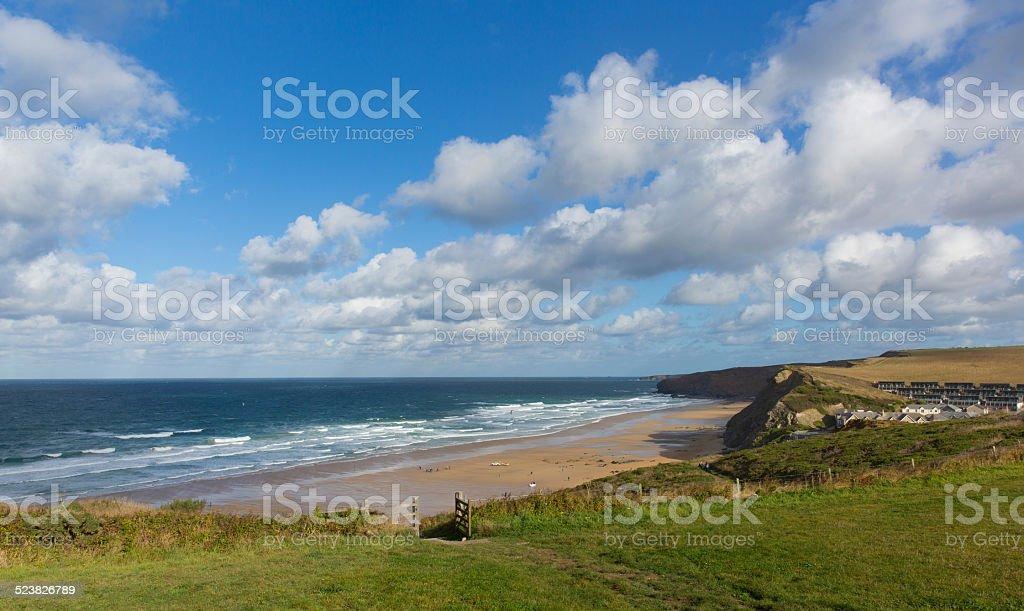Watergate Bay Cornwall England UK Cornish north coast near Newquay stock photo