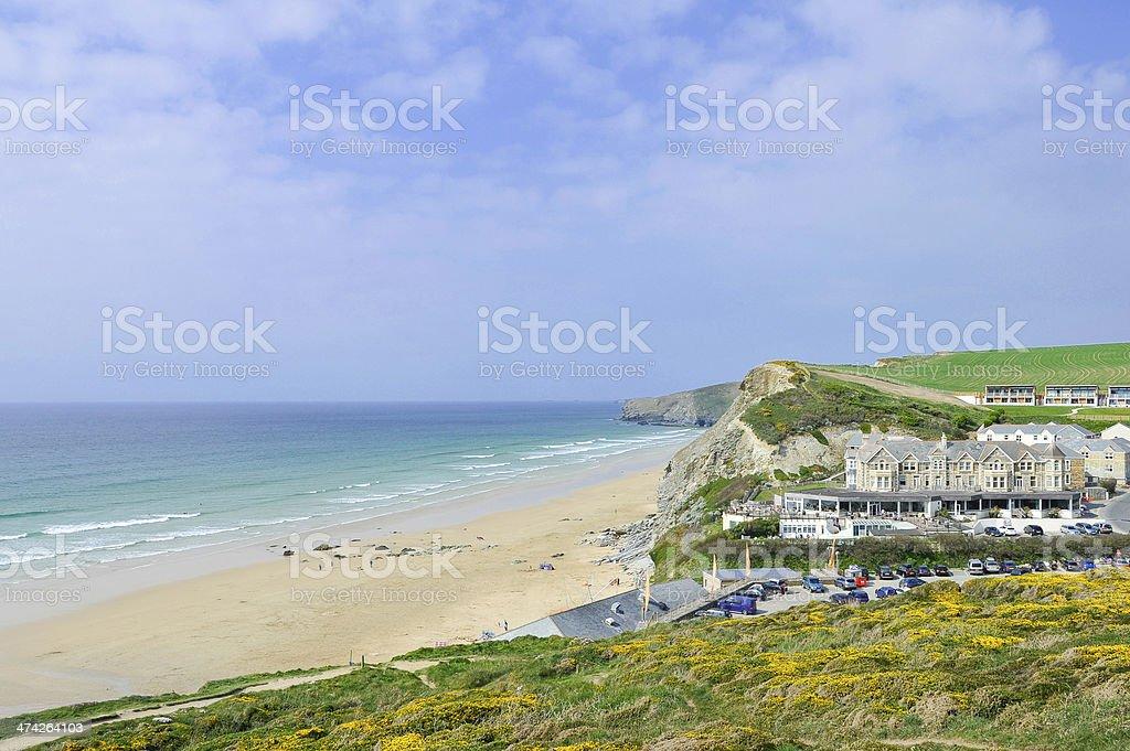 Watergate Bay in Cornwall, UK stock photo