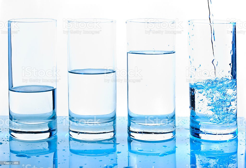 Waterglasses royalty-free stock photo
