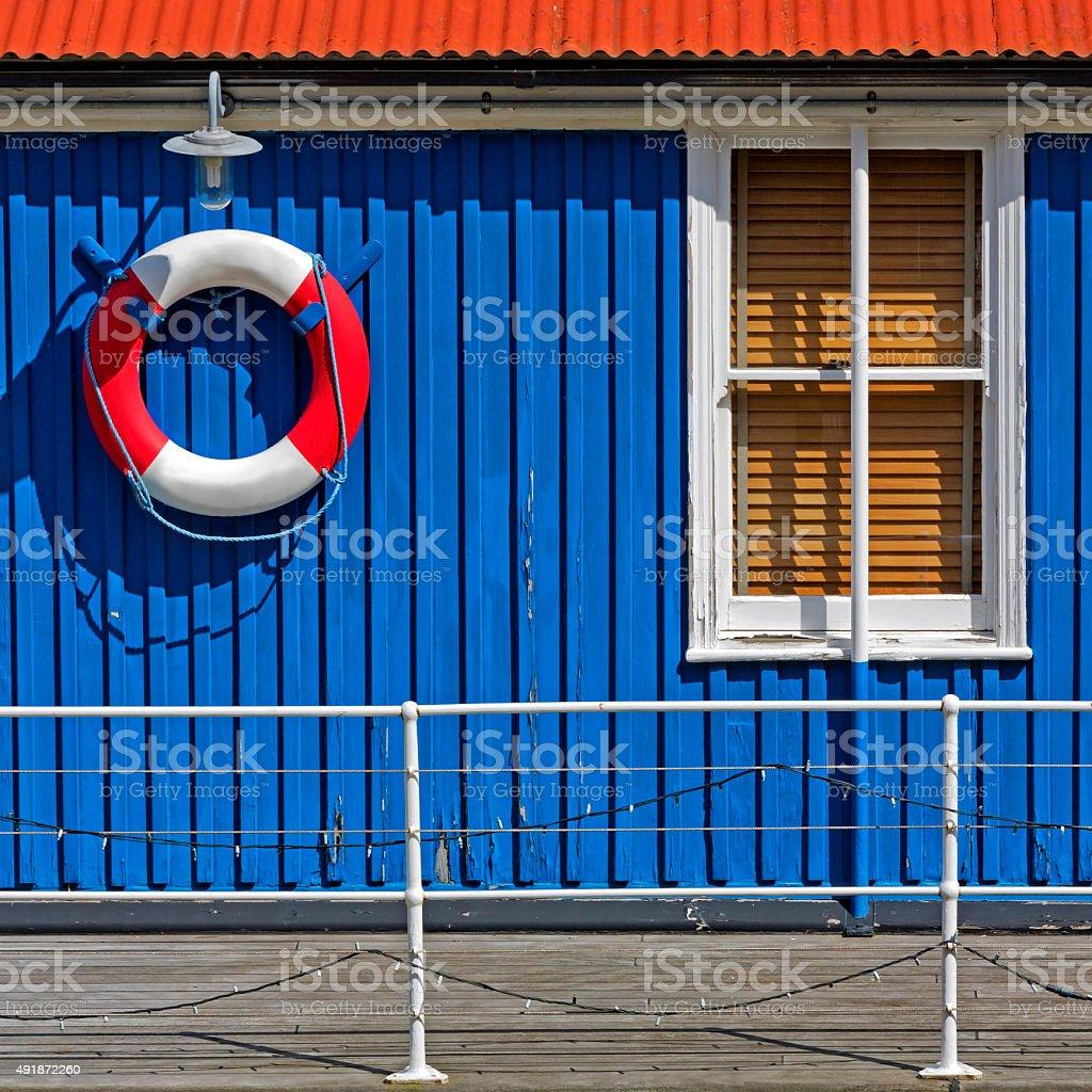 Waterhouse facade detail stock photo