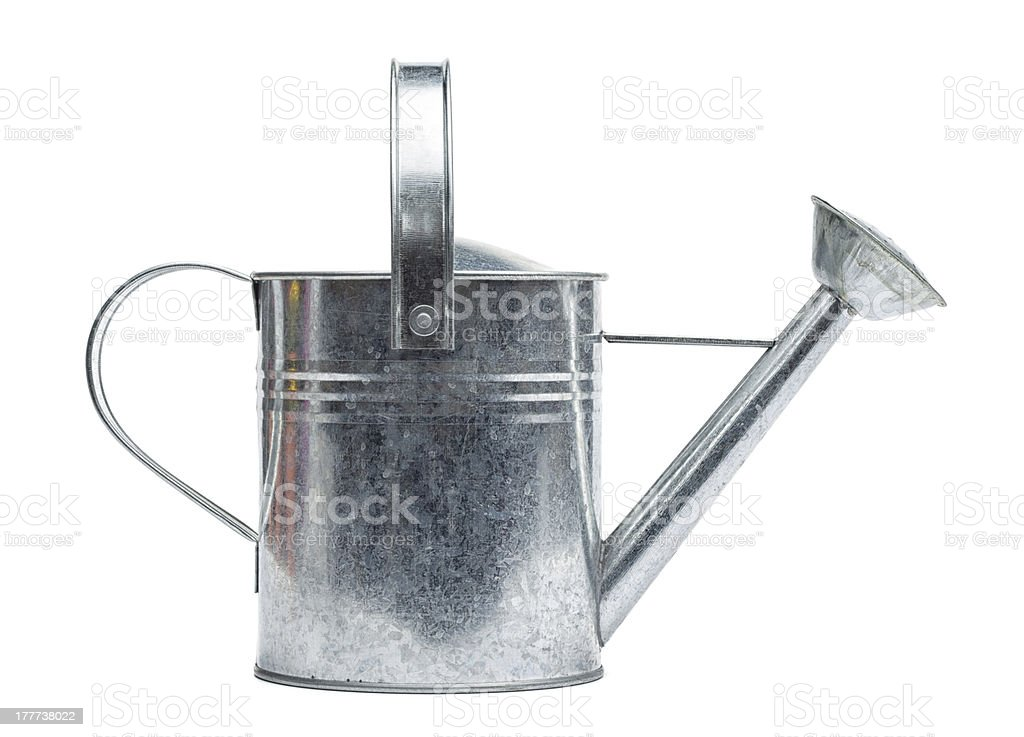 Watering Can from metal stock photo