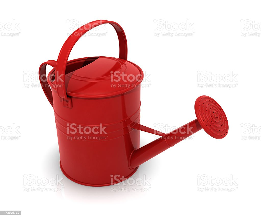 Watering can red royalty-free stock photo