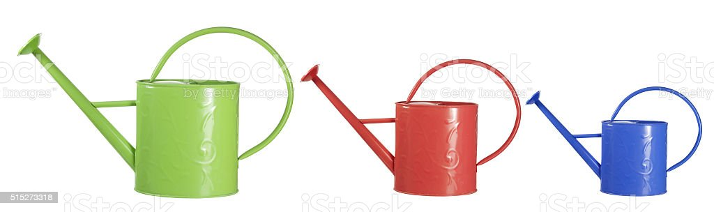 Watering Cans stock photo