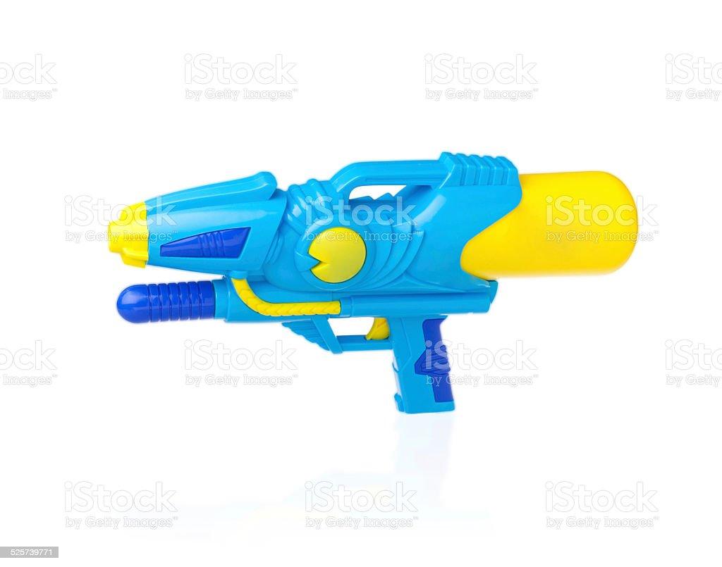 Watering spray gun isolated on white stock photo