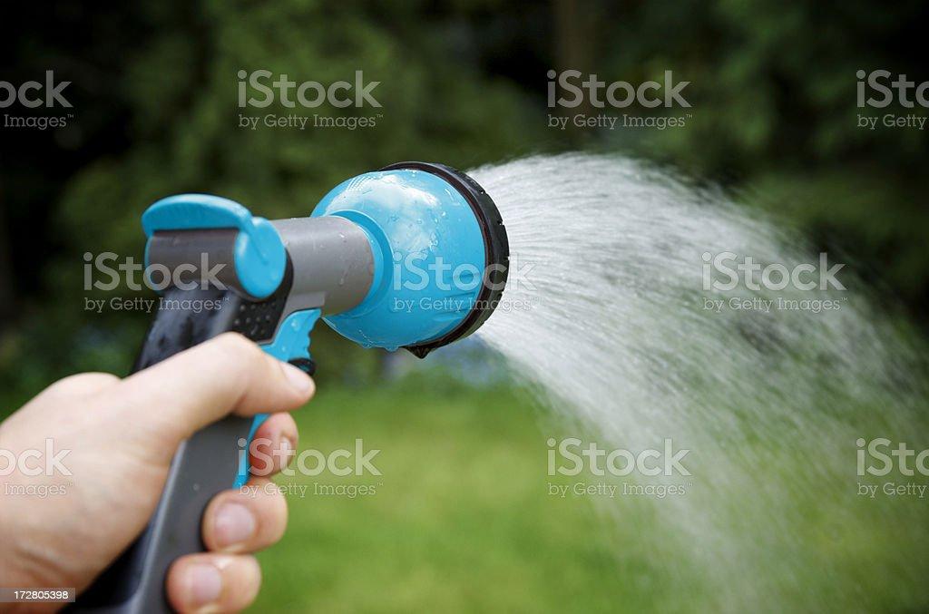 Watering the Garden stock photo