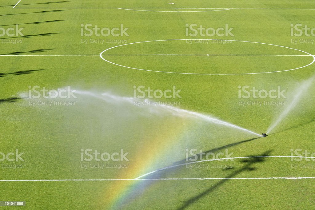 Watering turf royalty-free stock photo