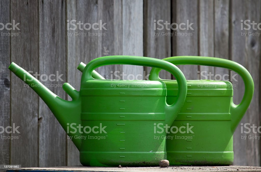 watering-cans royalty-free stock photo