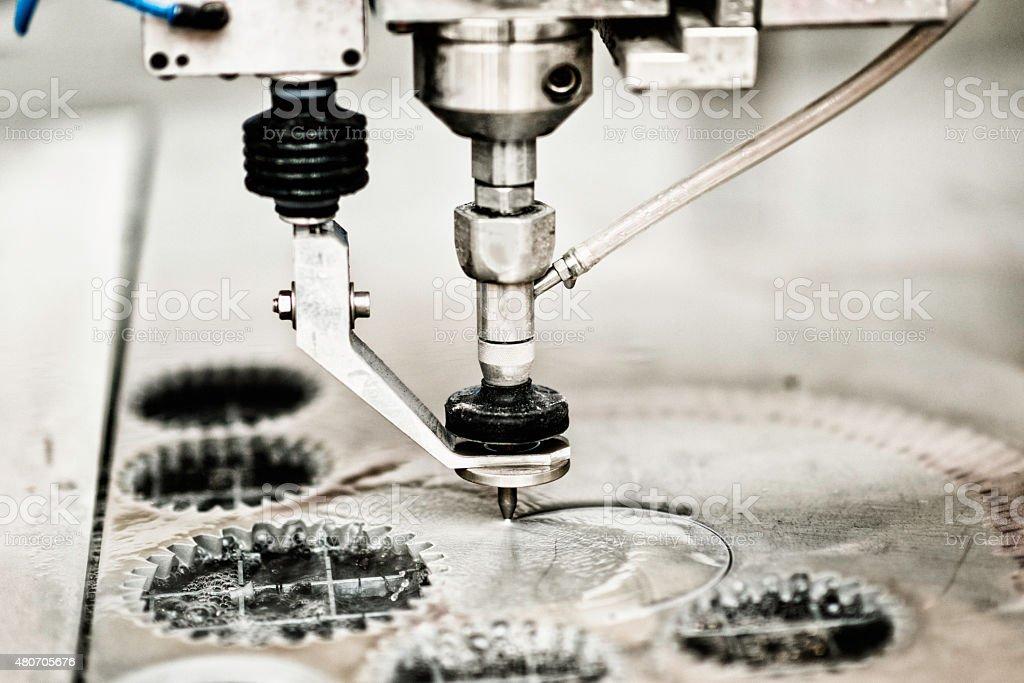 Waterjet cutting machine stock photo