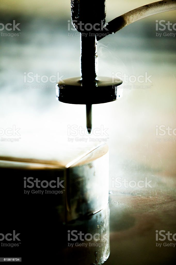 Waterjet metal cutter stock photo