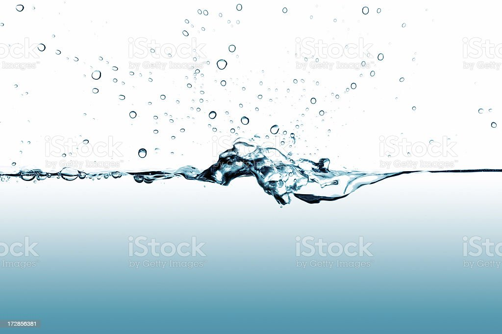 waterline with splash and bubbles royalty-free stock photo