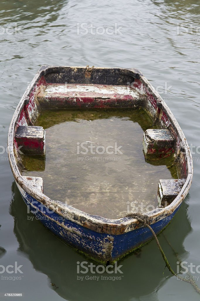 Waterlogged Dingy royalty-free stock photo