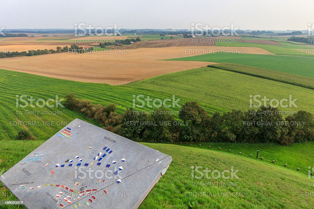 Waterloo Battlefield, Belgium stock photo