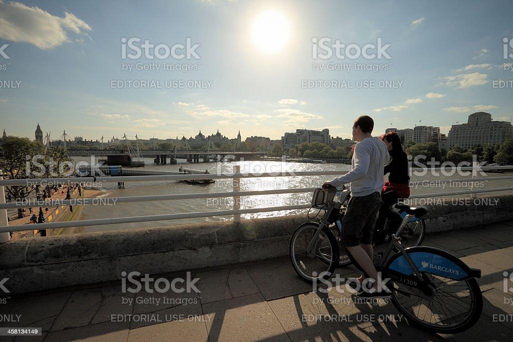 Waterloo bridge view stock photo