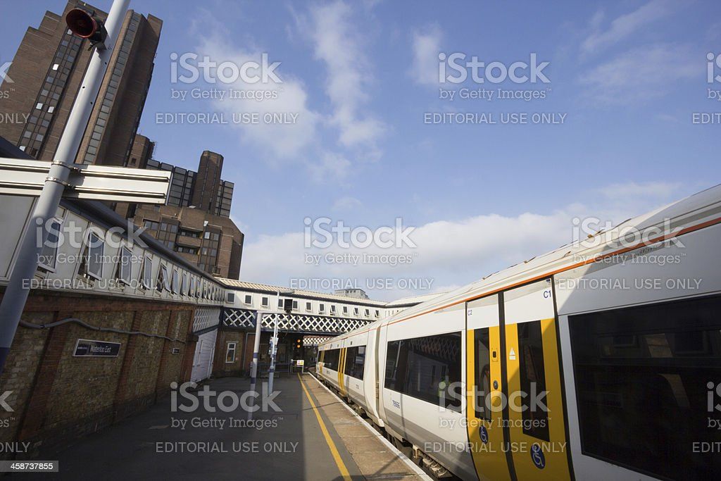 Waterloo Station in London, England royalty-free stock photo