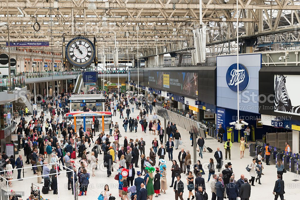 Waterloo Station stock photo