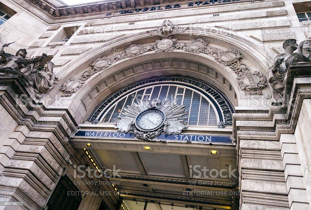 Waterloo Station war memorial entrance stock photo
