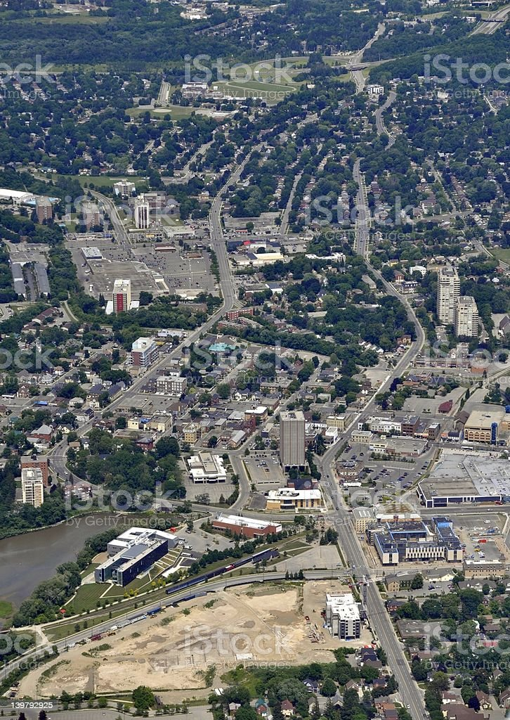 Waterloo town centre aerial royalty-free stock photo