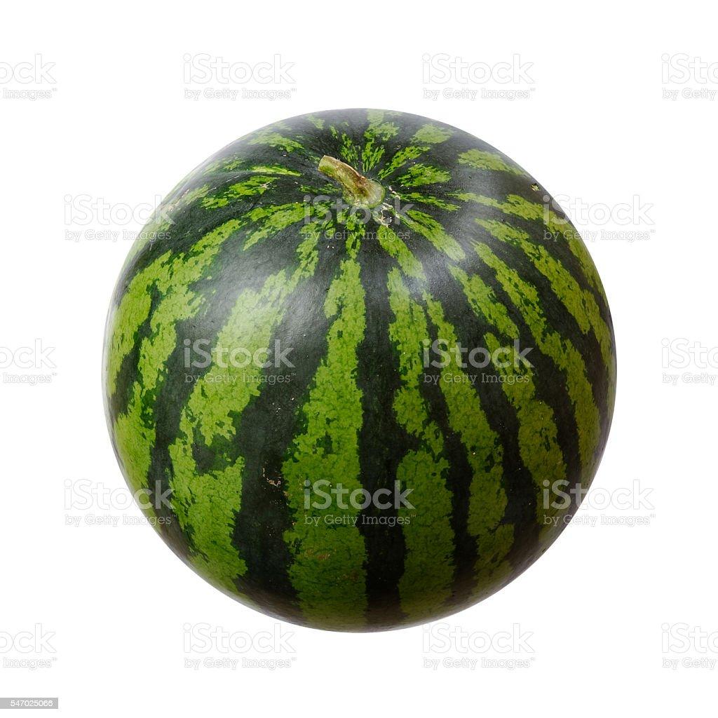 Watermelon against white background stock photo