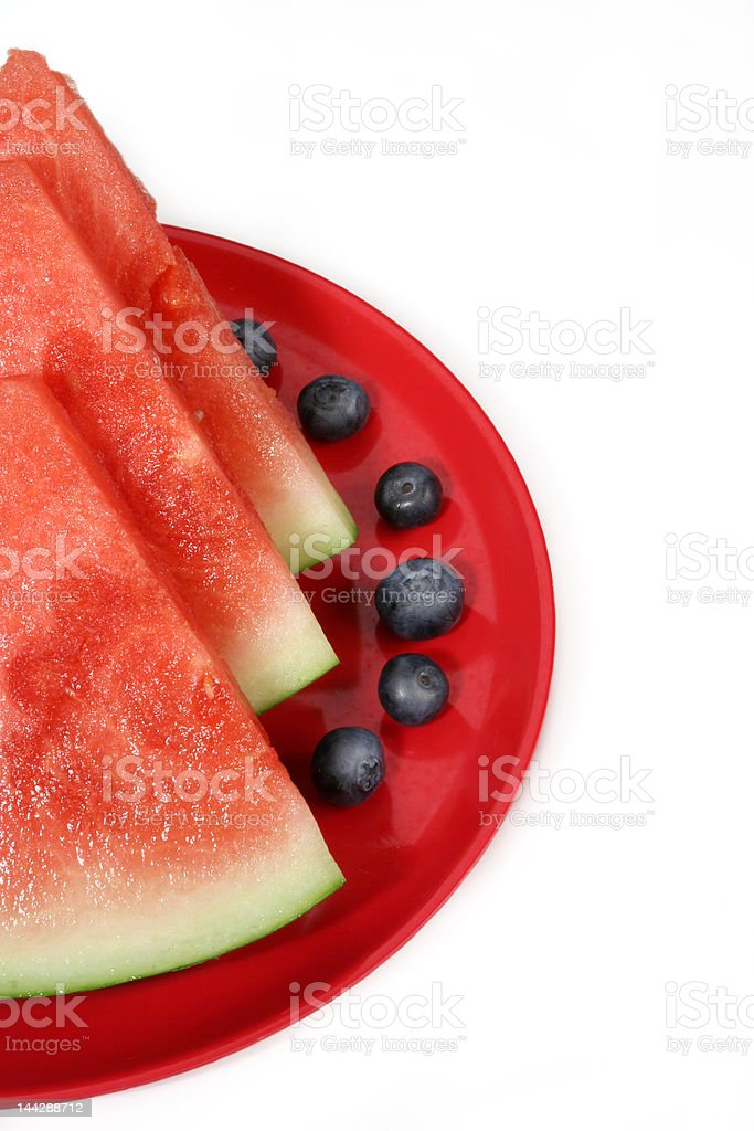 water-melon and blueberries royalty-free stock photo