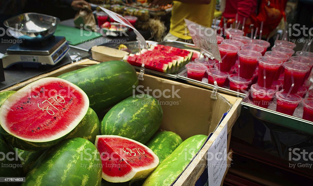 Watermelon and Watermelon smoothies royalty-free stock photo