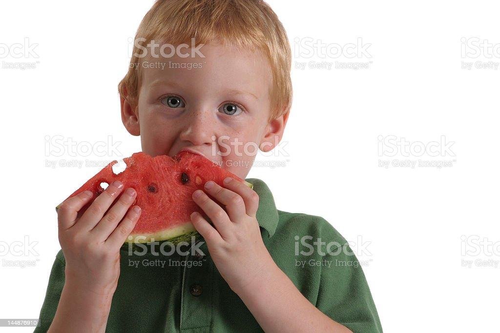 Watermelon Boy royalty-free stock photo