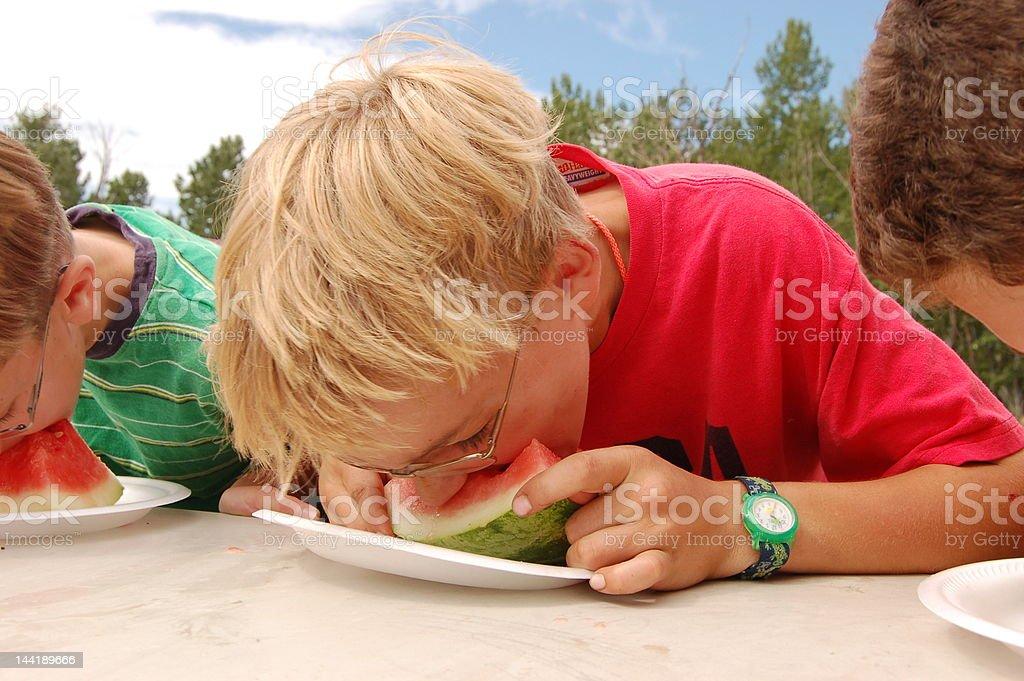 Watermelon Contest stock photo
