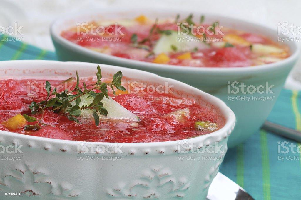 Watermelon Gazpacho stock photo