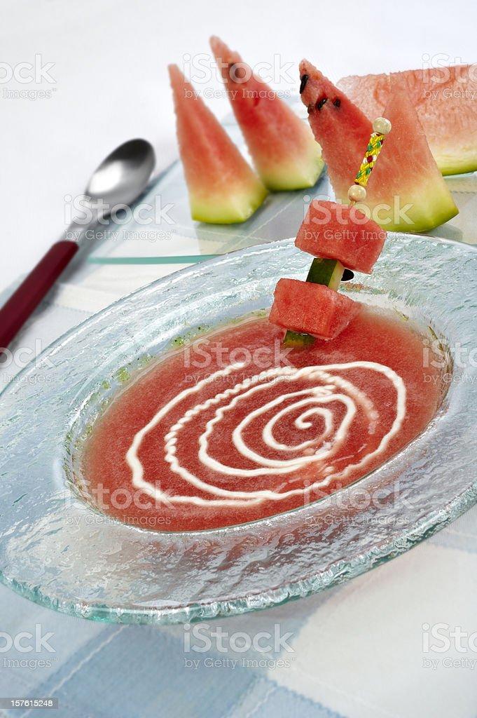 Watermelon Gazpacho. royalty-free stock photo