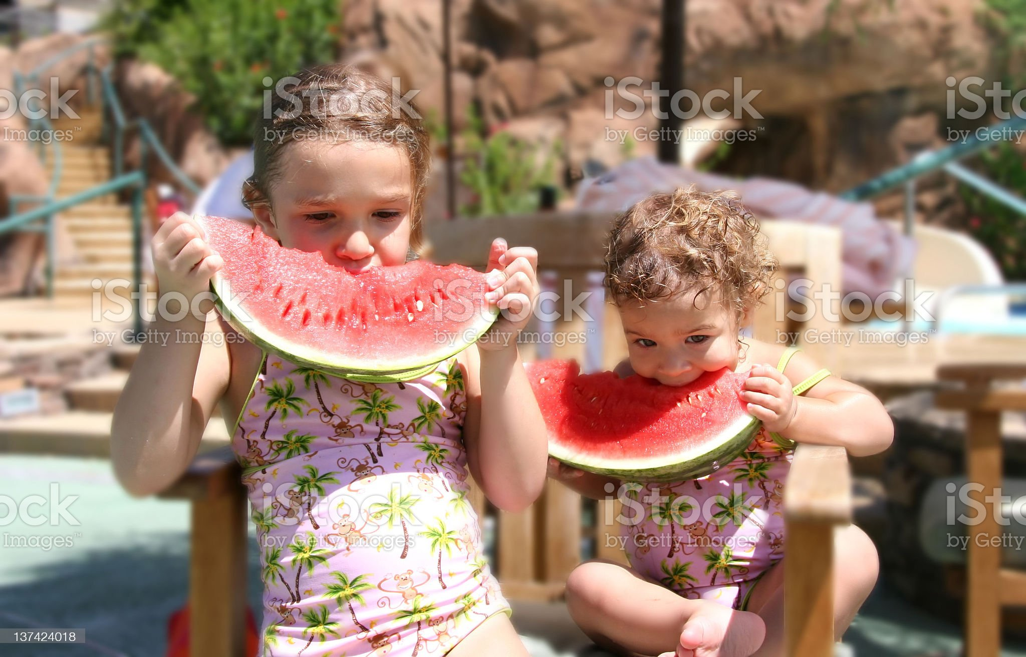 Watermelon Girls royalty-free stock photo