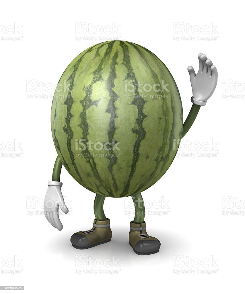 Watermelon Guy stock photo