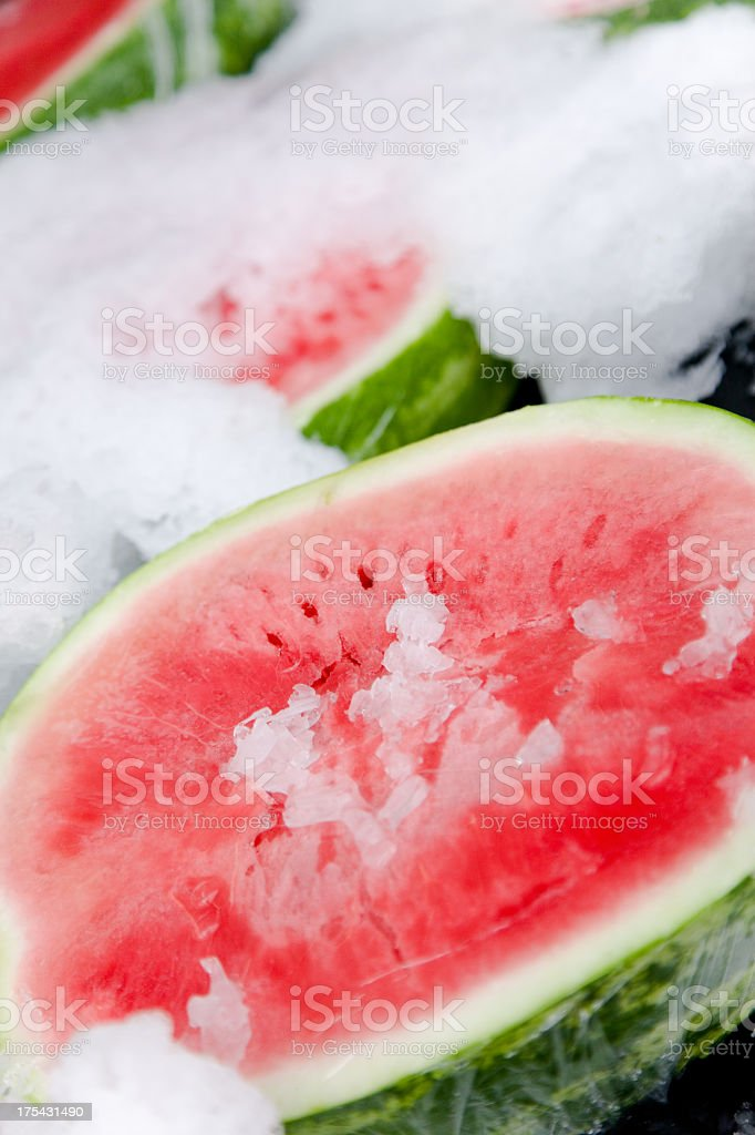Watermelon Halves royalty-free stock photo