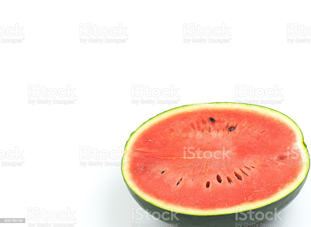 Watermelon is red and delicious stock photo