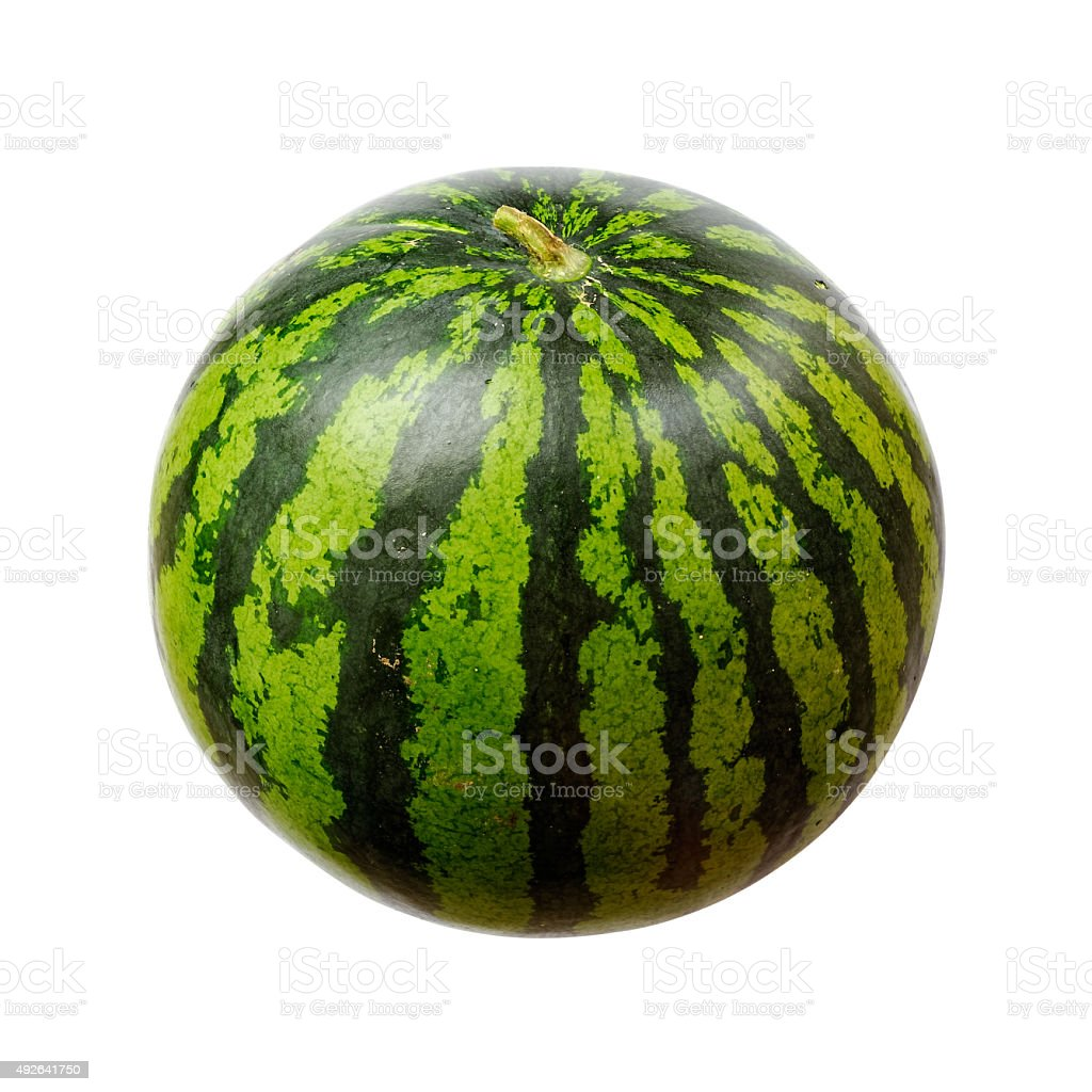 Watermelon isolated on white stock photo