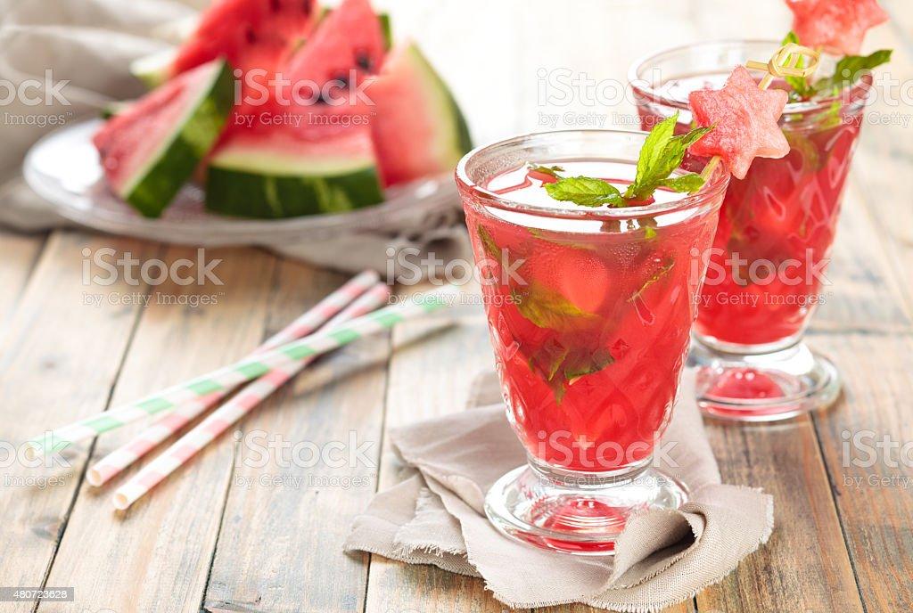 Watermelon juice. stock photo