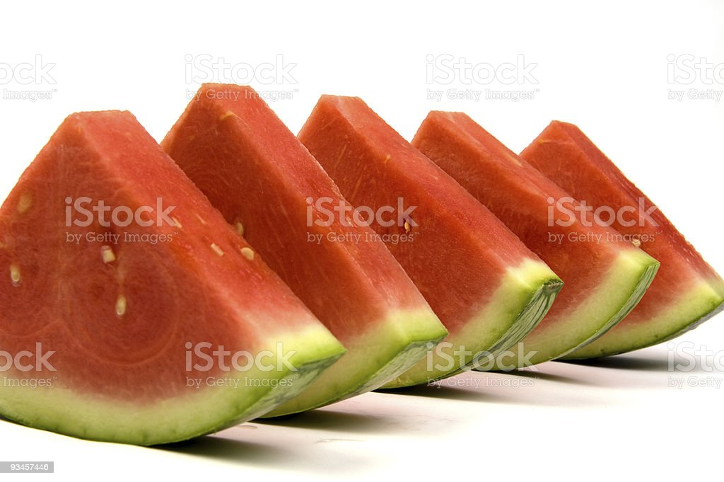 watermelon line-up royalty-free stock photo