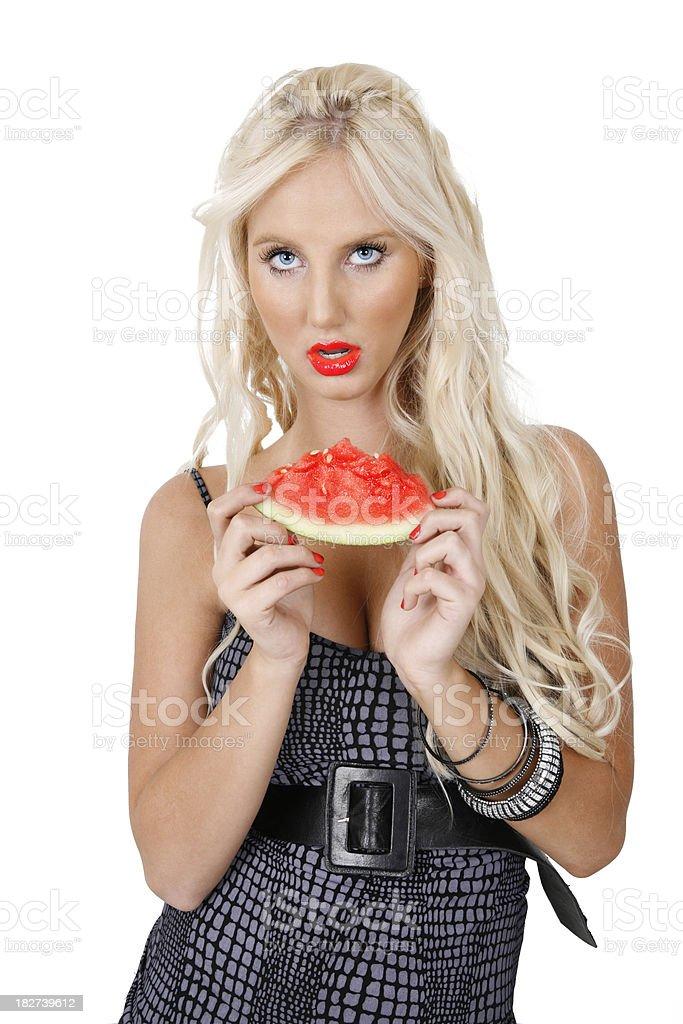 Watermelon Lips royalty-free stock photo