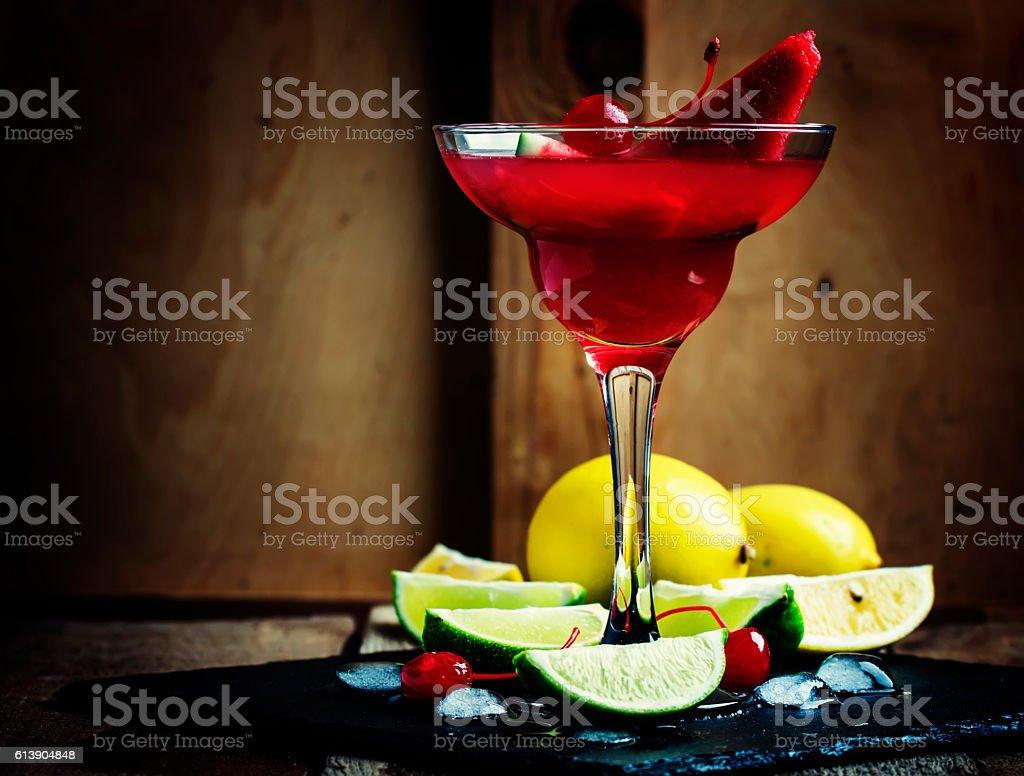 Watermelon Margarita stock photo