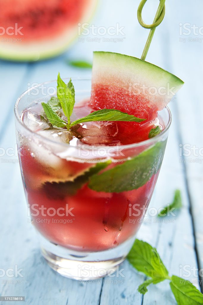 Watermelon mojito royalty-free stock photo