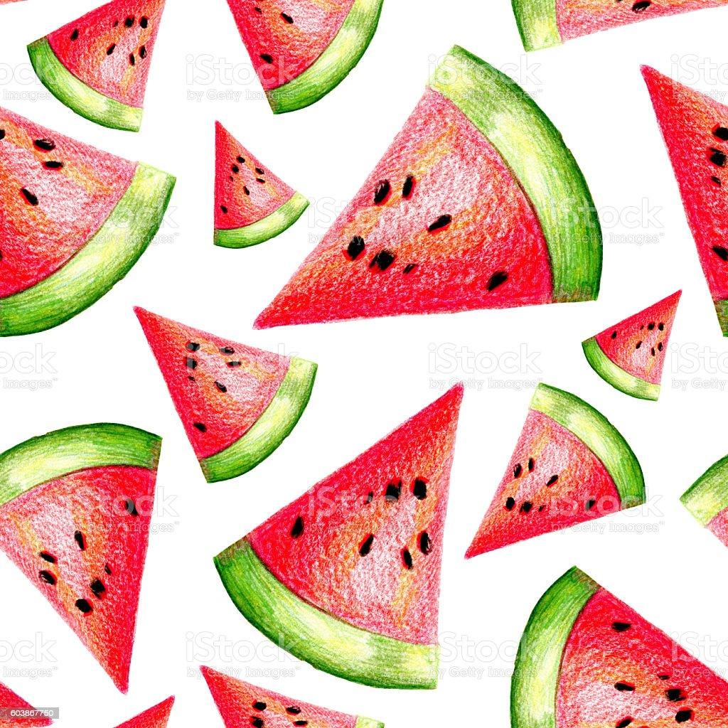 Watermelon pattern stock photo