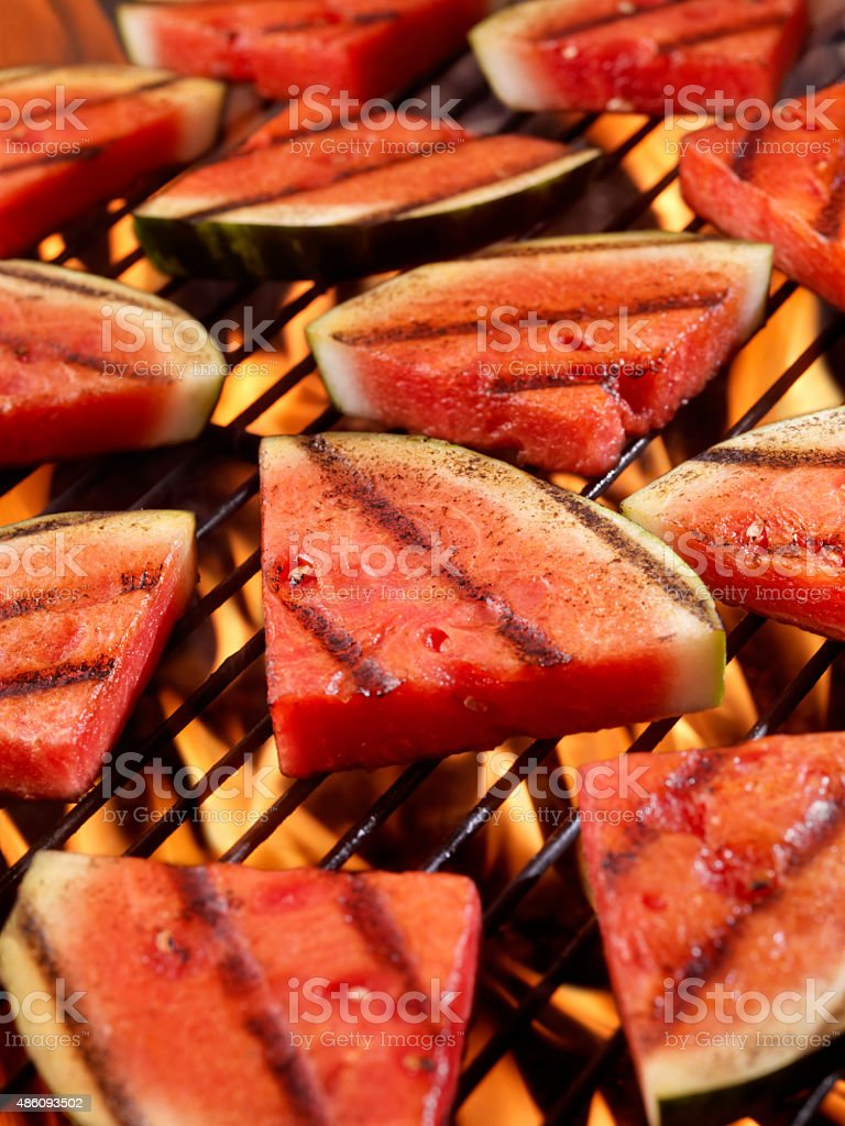 BBQ Watermelon stock photo