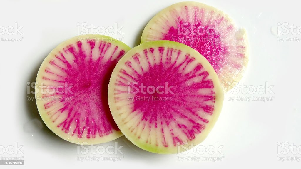 Watermelon radish stock photo