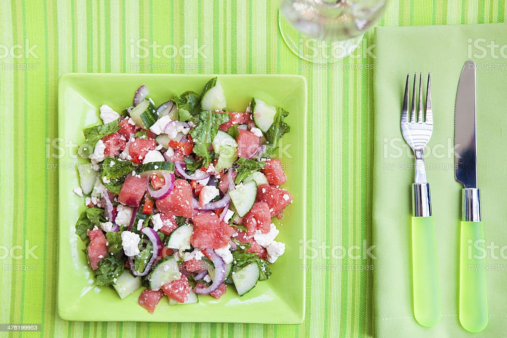 Watermelon Salad royalty-free stock photo